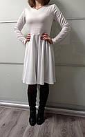 Платье женское белое трикотажное MixMi Размер 42-44