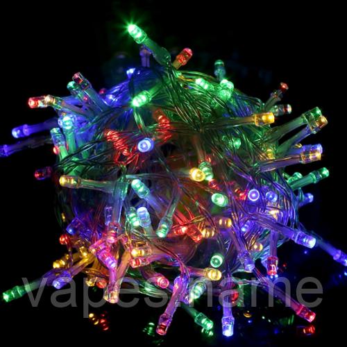 Гирлянда LED 100 лампочек 7м. разноцветная
