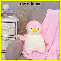 Детская мягкая игрушка подушка плед пингвин 3 в 1 Подушка-плед трансформер, флисовый, покрывало, одеяло