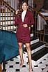 Замшевый костюм с юбкой Марсала, фото 2