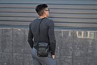Мужская сумка мессенджер  НОВИНКА мужская сумка через плечо / Сумка чоловіча чорна / Барсетка, фото 1