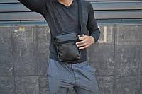 Мужская сумка мессенджер КАЧЕСТВО 100% мужская сумка через плечо / Сумка чоловіча чорна / Барсетка, фото 1