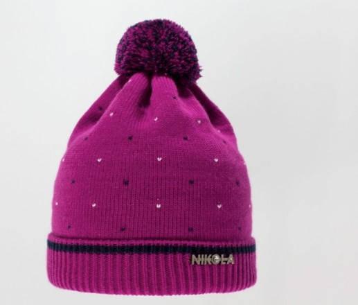 Детская красивая качественная вязаная шапочка бумбоном, фото 2