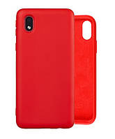 Чехол Silicone Case full для Samsung Galaxy A01 Core (A013) Red