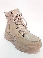 Зимние ботинки - кроссовки из натуральной кожи. Зимові жіночі чоботи - кросівки, фото 1