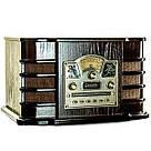 Ретро проигрыватель винила Daklin «Даллас», дерево, шоколадный орех (RP-131) граммофон с USB, CD, SD, радио, фото 2