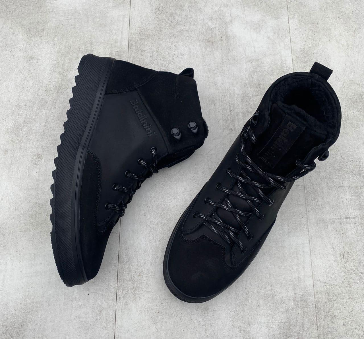 Мужские ботинки Baldinini H1138 черные