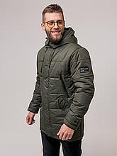Мужская куртка пуховик Б-6 хаки зима 2021