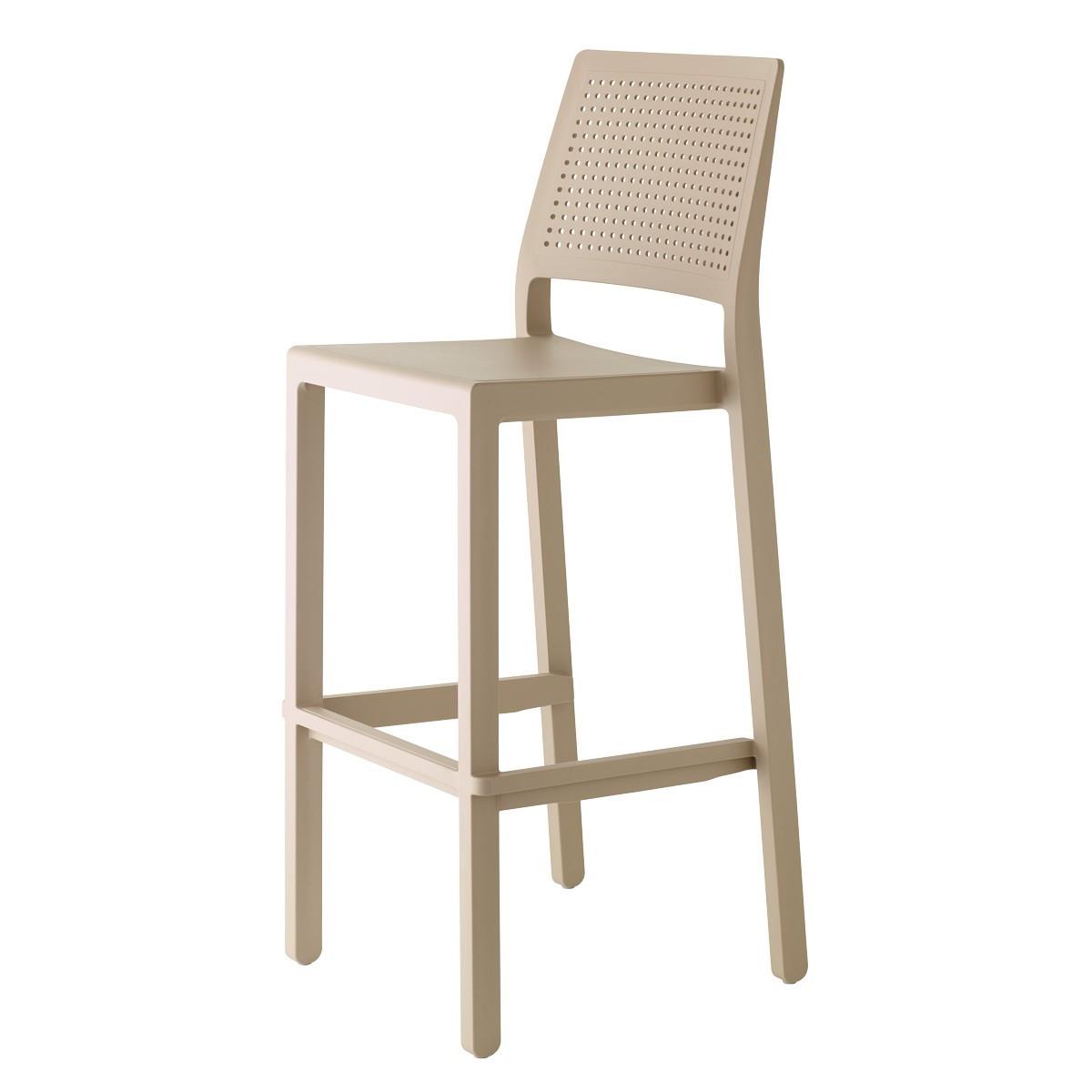 Барний стілець Emi SCAB h75/65 см tortora