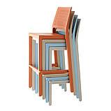 Барний стілець Emi SCAB h75/65 см tortora, фото 3