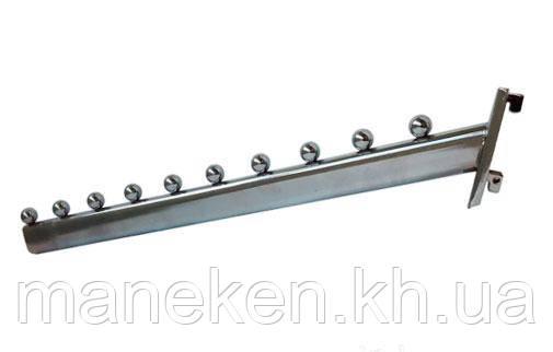 Флейта (кронштейн) с креплением на панель (Deka) 45см. Хром, фото 2