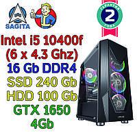 Игровой компьютер intel i5-10400f + 16Gb + SSD 240Gb + HDD 1000Gb + GTX 1650 4Gb, фото 1