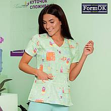 Женская медицинская блуза Асия салатовая, 44
