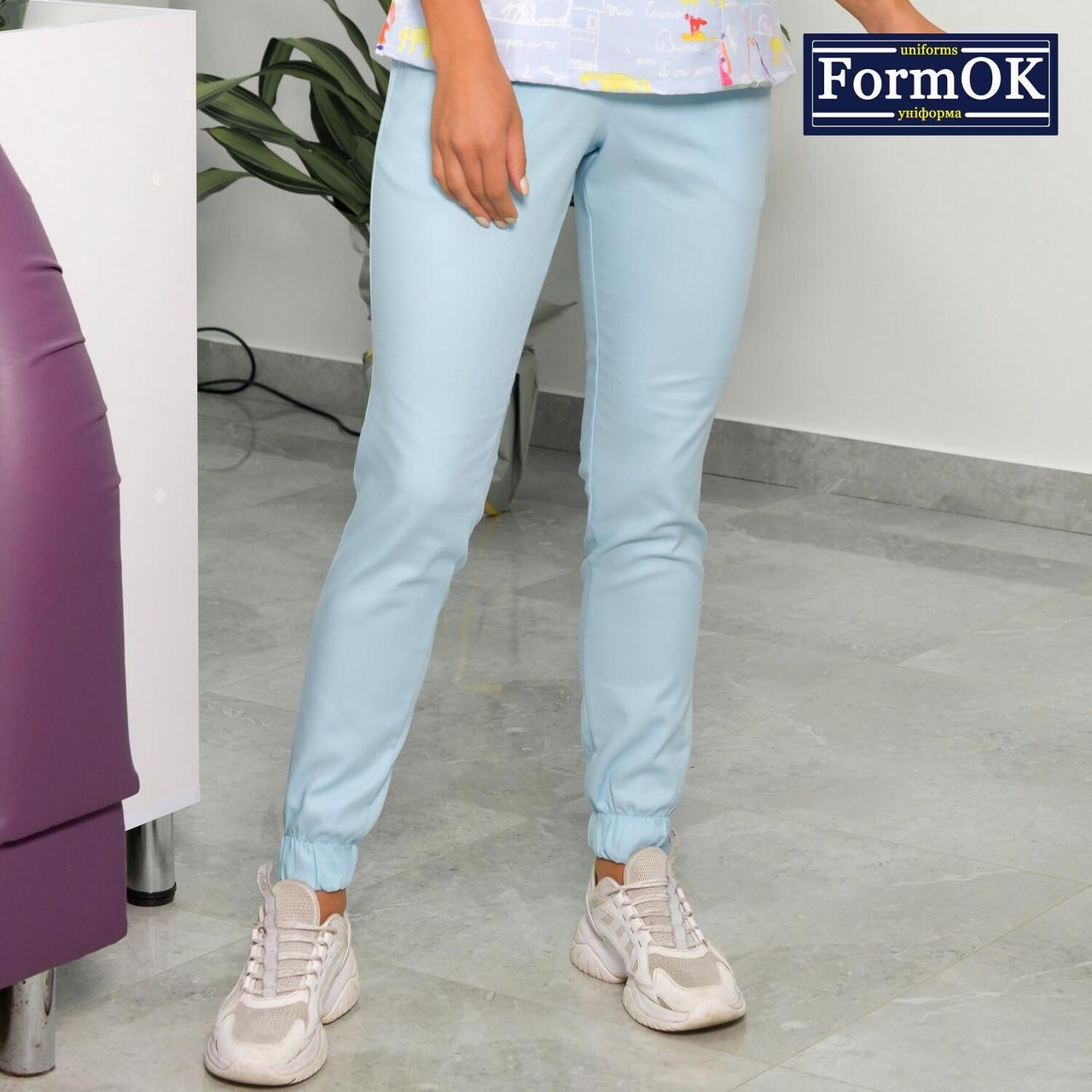 Женские медицинские штаны Асия голубые, 44