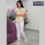Женские медицинские штаны Асия белые, 44, фото 2