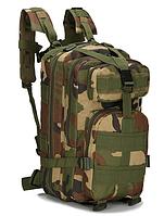 Тактический штурмовой военный туристический городской рюкзак ForTactic на 25л Камуфляж зеленый