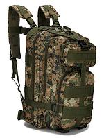 Тактический штурмовой военный туристический городской рюкзак ForTactic на 25л Зеленый Пиксель