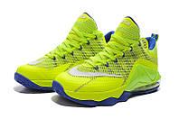 Баскетбольные кроссовки Nike Lebron 12 Low салатовые