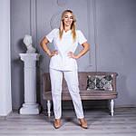 Женская медицинская блуза Avicenna белая, 46, фото 7