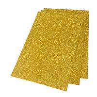 Фоамиран 2мм глиттерный 20х30 см золотой 2311