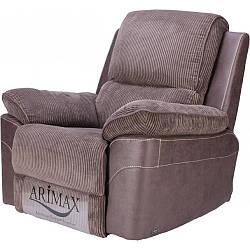 Кресло Arimax Brooks с реклайнером ткань вельвет коричневый (U0004221)