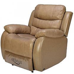 Кресло Arimax Bruce с электрореклайнером кожа бежевый 1021 (U0000042)