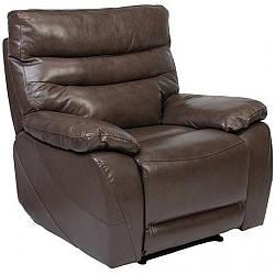 Кресло Arimax Griffin с электрореклайнером кожа коричневый 3306 (U0001778)
