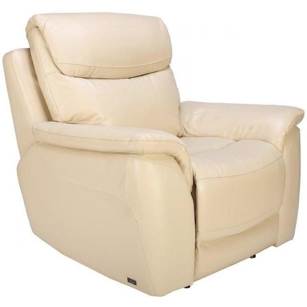 Кресло Arimax Mitchel с электрореклайнером кожа свтело-бежевый 3305 (U0002241)