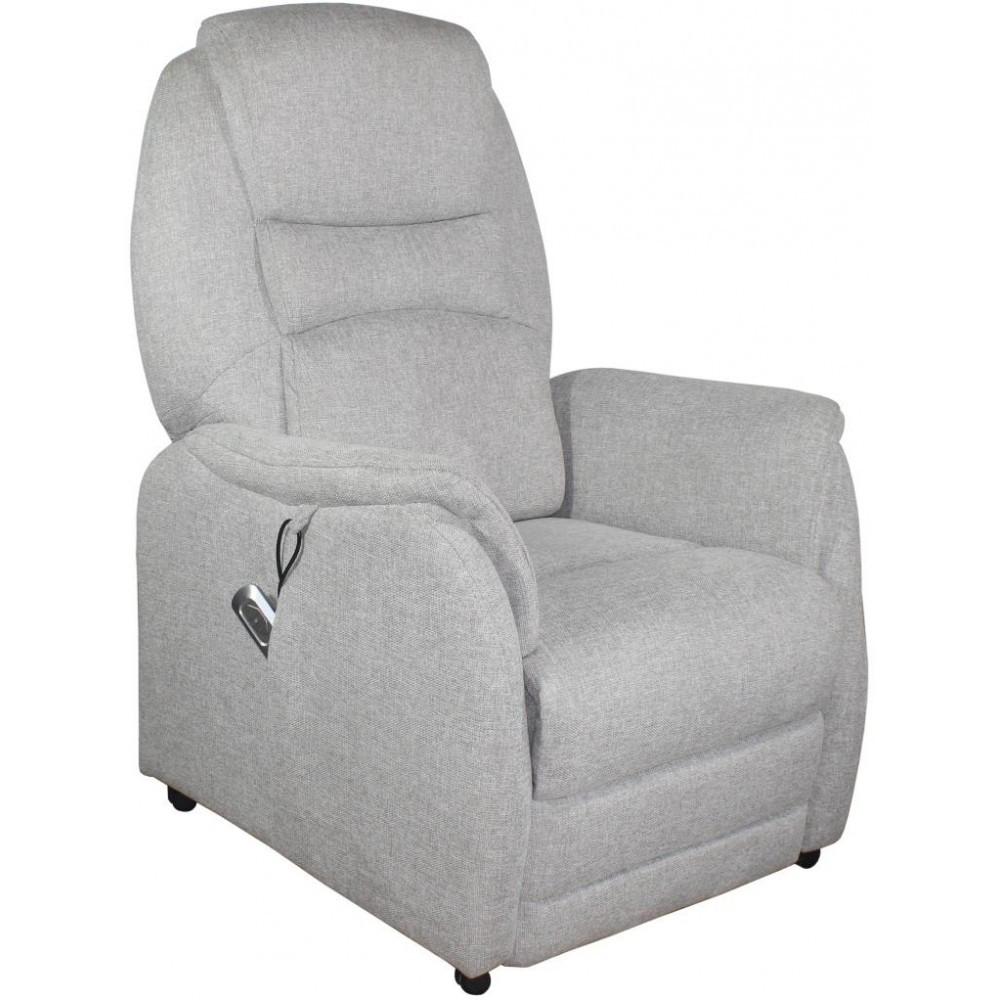 Кресло Doctor Max DM01001 с подъемом и электрореклайнером ткань светло-серый (U0000327)