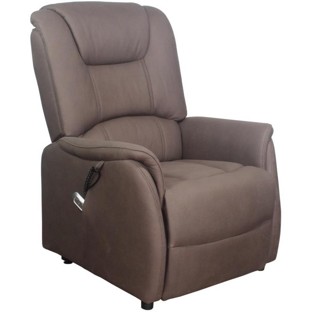 Кресло Doctor Max DM01002 с подъемом и электрореклайнером ткань коричневый (U0000329)