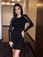 Нарядное комбинированное платье, фото 1