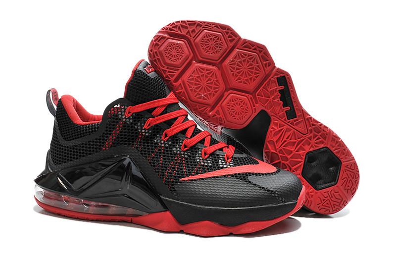 4293bbb6 Баскетбольные Кроссовки Nike Lebron 12 Low Black-red — в Категории ...