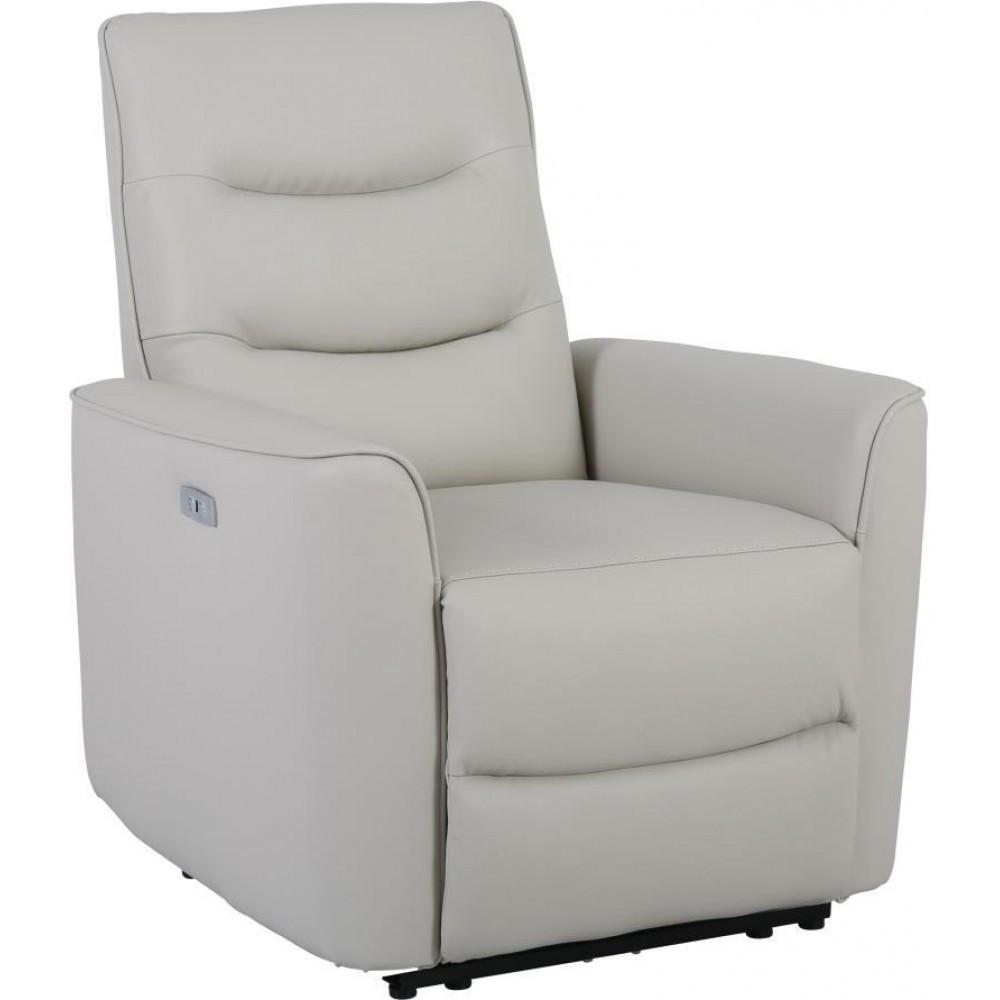 Кресло Doctor Max DM02005 с электрореклайнером кожа кремовый (U0000299)