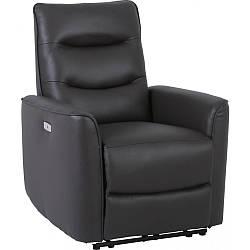 Кресло Doctor Max DM02005 с электрореклайнером кожа темно-кофейный (U0000300)