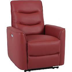 Кресло Doctor Max DM02005 с электрореклайнером кожа терракота (U0000301)