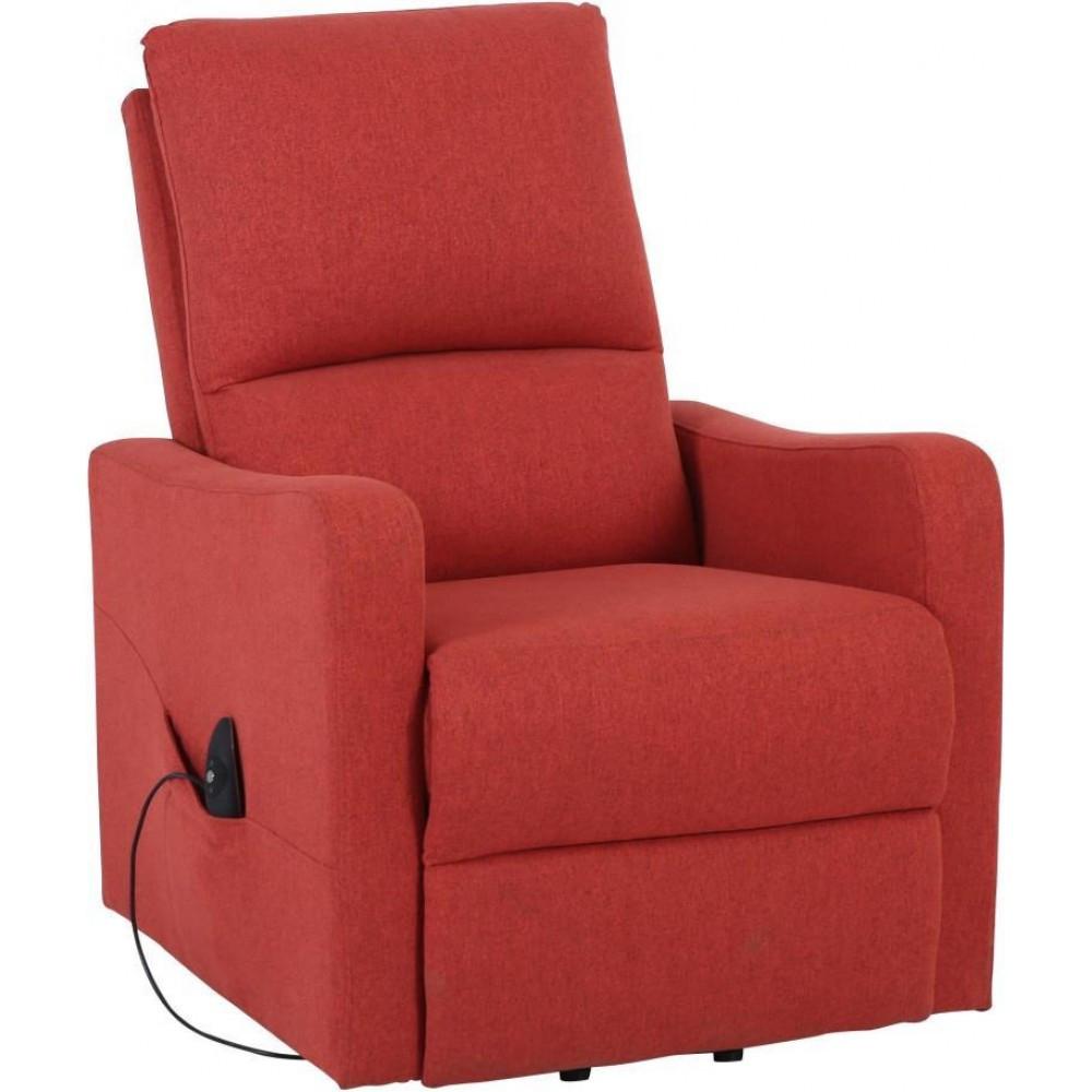 Кресло Doctor Max DM02006 с подъемом и электрореклайнером ткань кирпичный (U0000302)