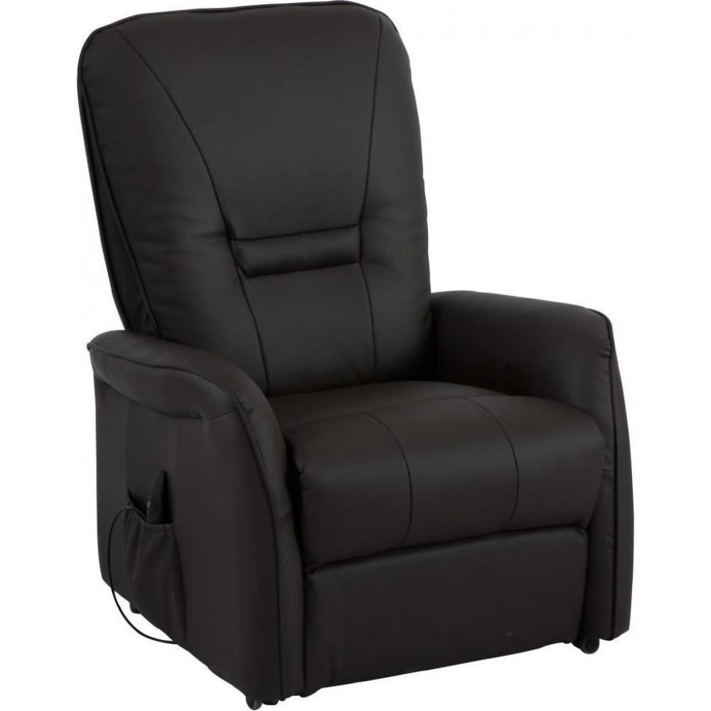 Кресло Doctor Max DM02007 с подъемом и электрореклайнером эко-кожа шоколадный (U0000308)