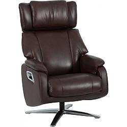 Кресло Doctor Max DM02009 поворотное с реклайнером кожа каштан (U0000346)