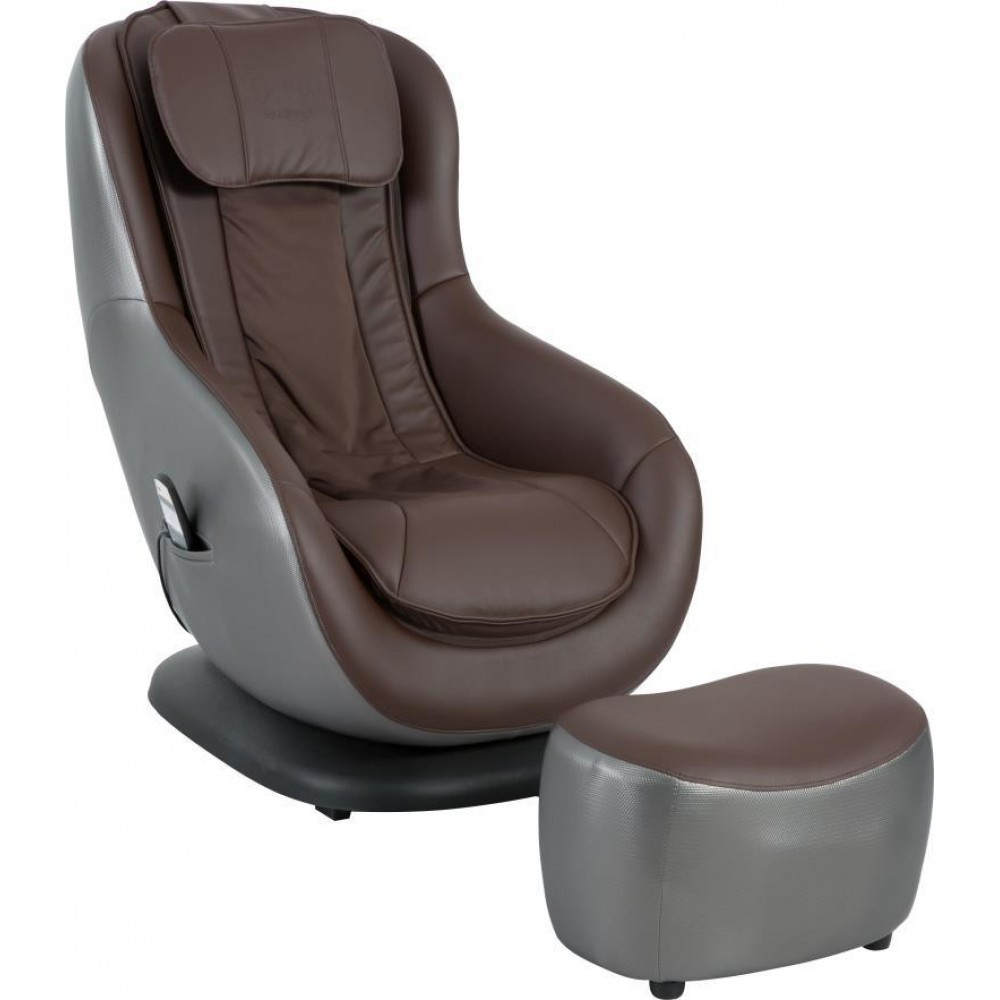 Кресло Doctor Max DM02010 с массажером и пуфом эко-кожа шоколадный (U0000314)