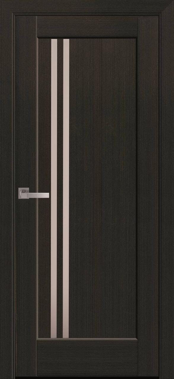 """Дверь межкомнатная """"Новый Стиль"""" модель Делла, венге (со стеклом)"""