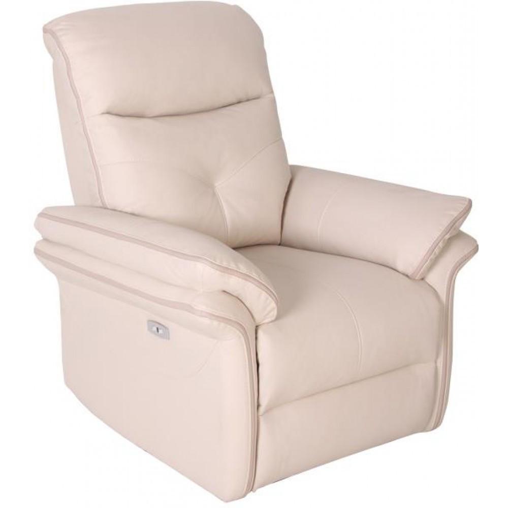 Кресло Doctor Max DM03003 с электрореклайнером ткань айвори / таупе (U0000147)