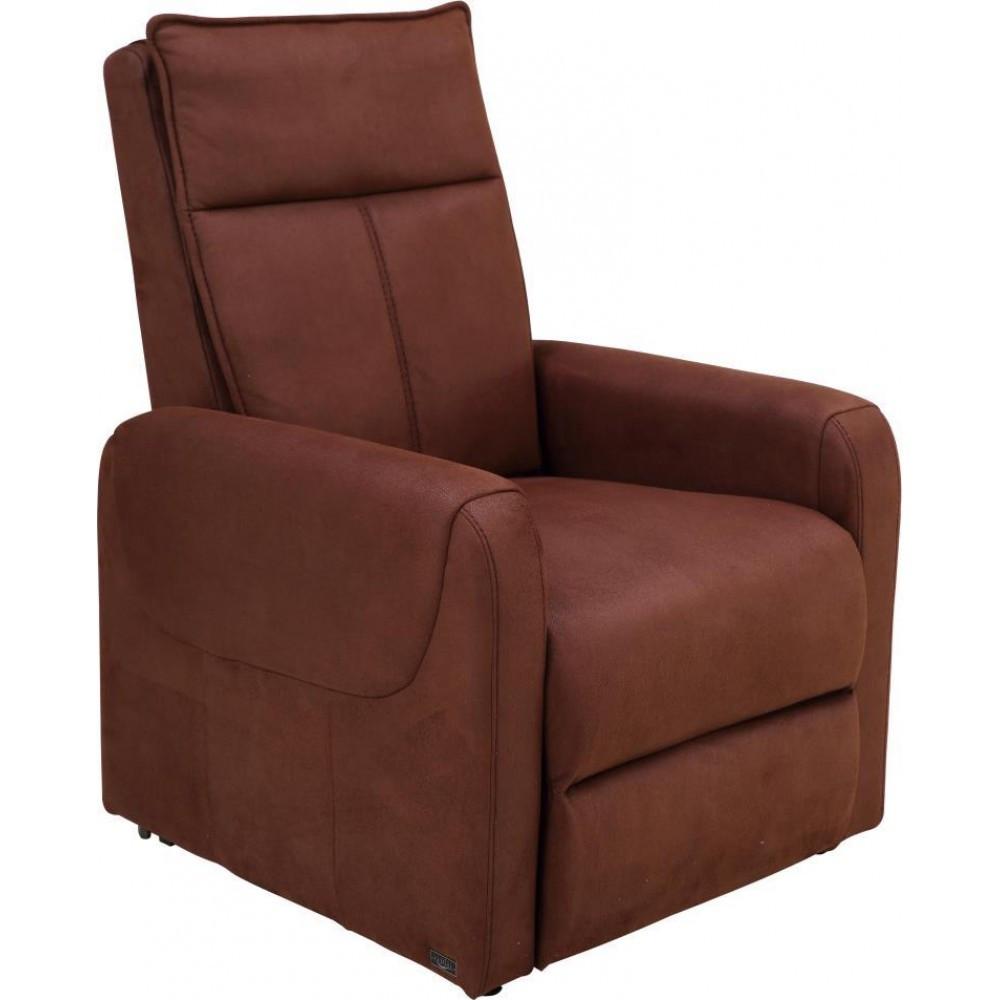 Кресло Doctor Max DM04004 c массажером, подъемом и электрореклайнером ткань шоколад (U0000403)
