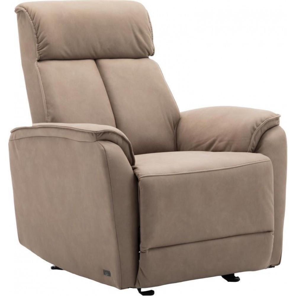 Кресло Doctor Max DM05001 с качалкой и электрореклайнером ткань какао (U0000442)