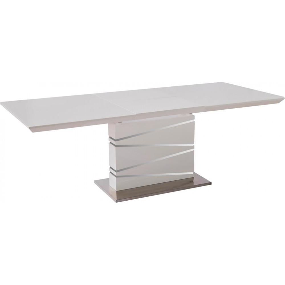 Стол Avanti Element 160-220 см белый лак со стеклом (U0002435)