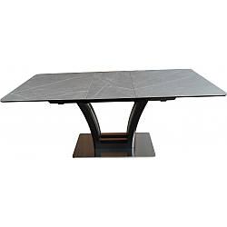 Стол Avanti Fusion 140-180 сатин черный / темный серый (U0005962)