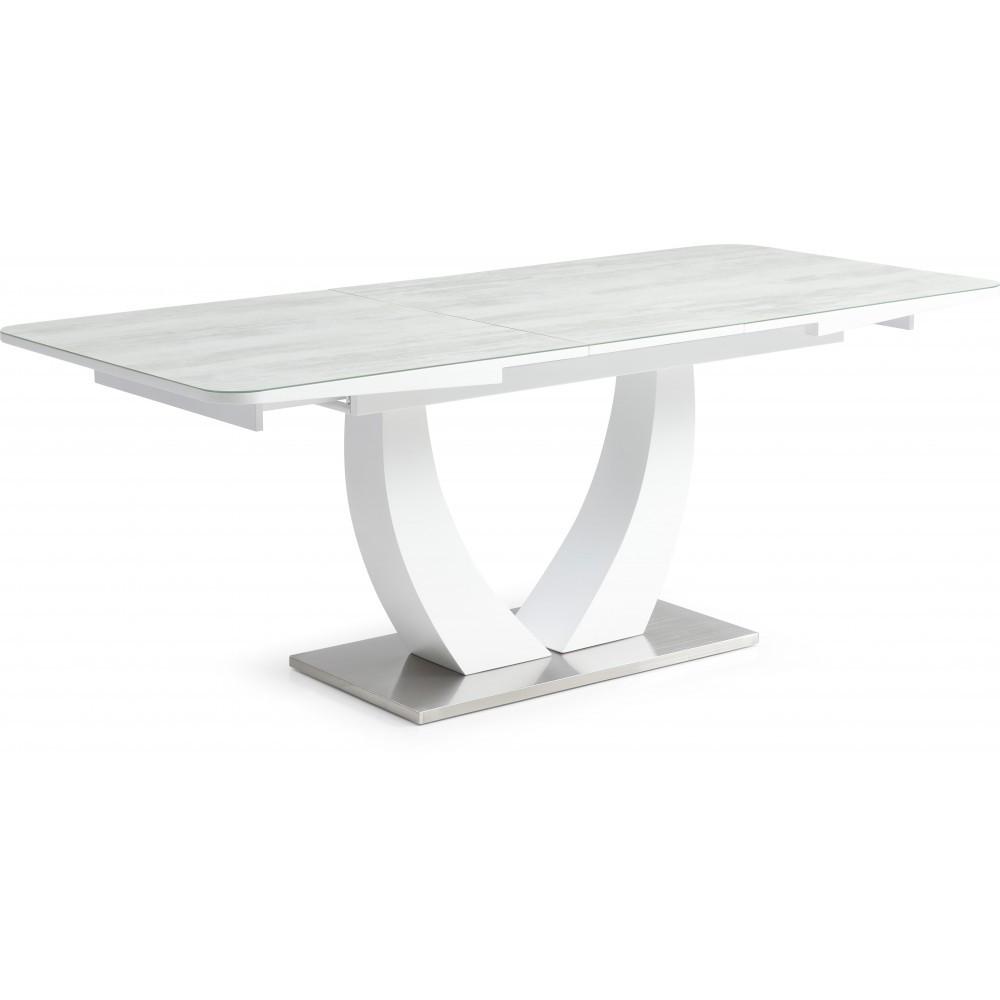 Стол Avanti Rock 160-200 см белый / серое стекло (U0000179)
