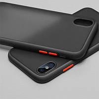 Накладка Gingle Matte Case для Samsung Galaxy A01 Core (A013) black/red