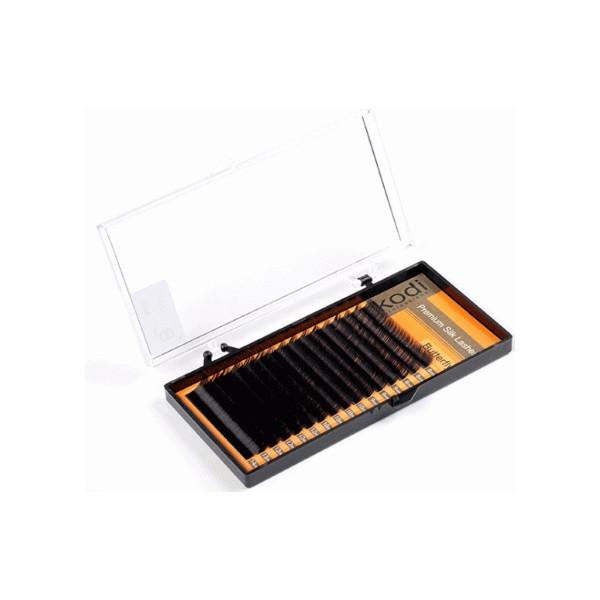 Ресницы для наращивания, черные Kodi Professional Butterfly №C.0.07 16 рядов: 13 мм