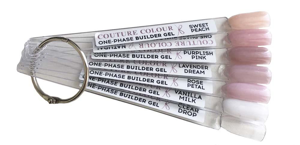 Палитра для гель-лака Couture color One-phase Builder Gel 1-7