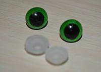 Глазки зеленые10 мм
